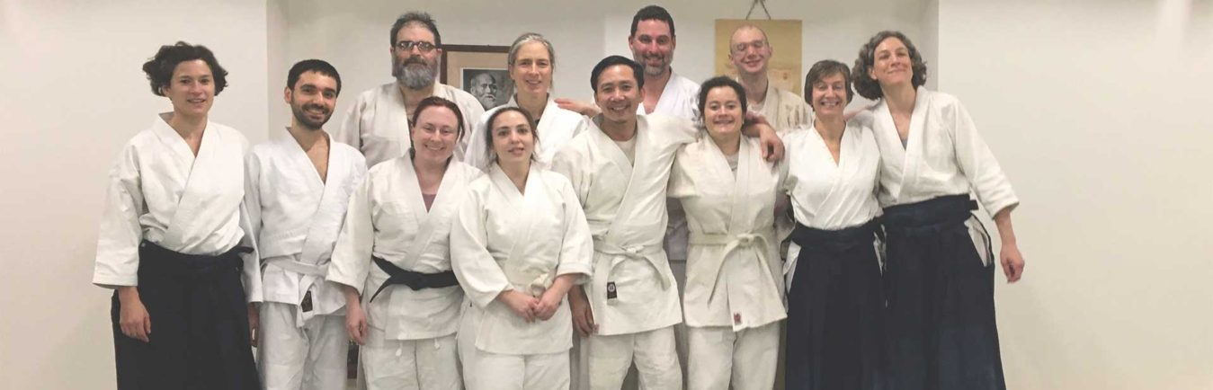 group of aikido students